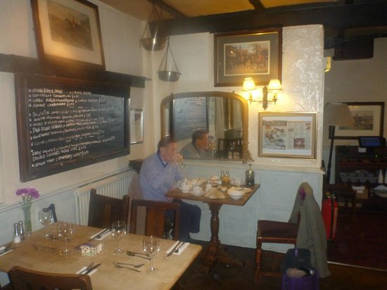 The Helyar Arms:                   My Dad having his breakfast