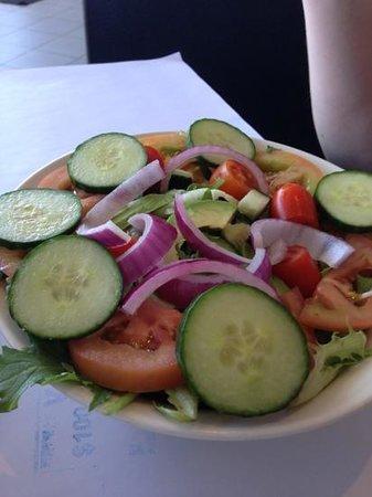 FAB Burgers:                   Salad ala FAB.