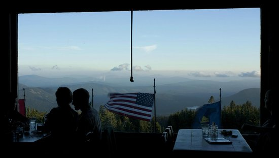Timberline Lodge:                   View from dining area