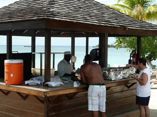 ClubHotel Riu Negril:                   Jerk chicken hut