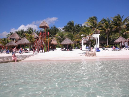 El Dorado Sensimar Riviera Maya:                   view from water at our favorite spot on the beach