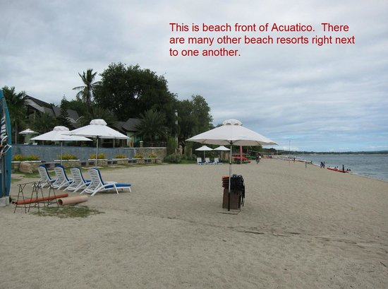 Acuatico Beach Resort & Hotel: beach front