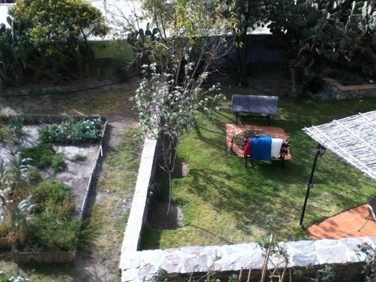 Refugio Romano:                   huerto, visto desde la terraza