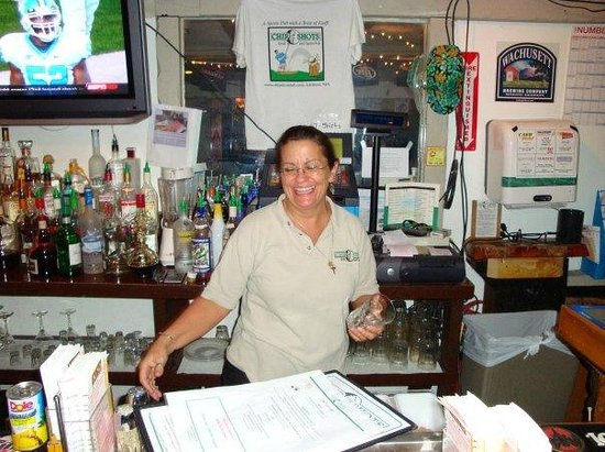 Chip Shots: Margaret at the bar
