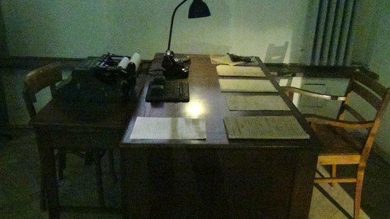 Mausoleum of Struggle and Martyrdom:                   Working area in Gestapo Headquarters Museum