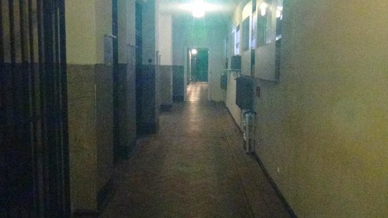 Mausoleum of Struggle and Martyrdom:                   Hallway inside Gestapo Headquarters Museum
