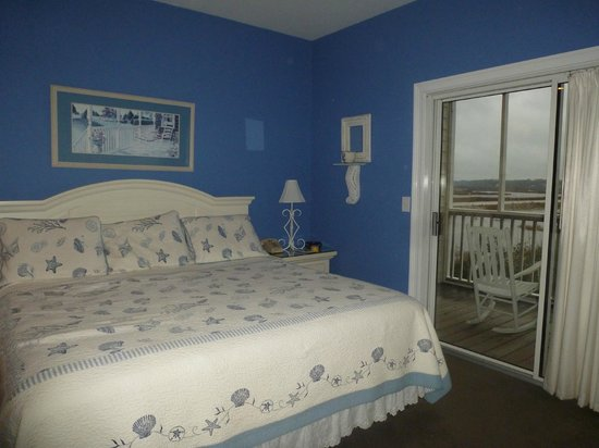The Sunset Inn:                   Lovely room with beach decor.