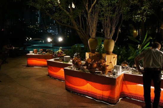 Chatrium Residence Sathon Bangkok:                                     das leckere Thai Buffet