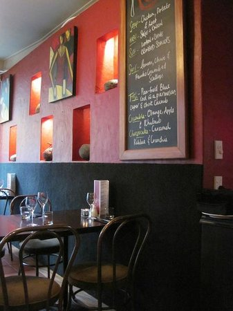 The Rocks Cafe: The Chalkboard menu and wall decor