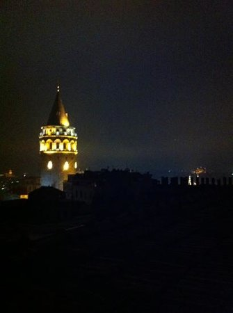 Meroddi Pera Hotel:                   rooftop view