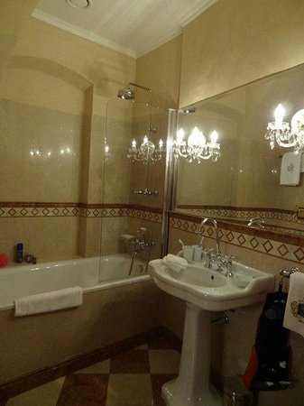 Alchymist Prague Castle Suites:                   Main floor guest batroom