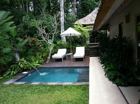 Puri Sunia Resort:                   pool view room with private pool (warm & cold water)