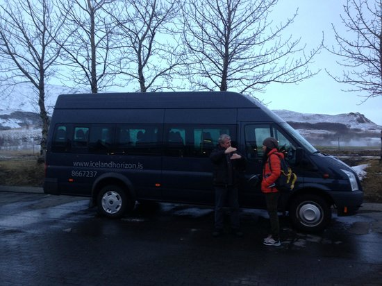 Iceland Horizon:                   David and his tour bus