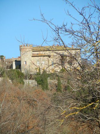 La Chiusa:                   A view from the resaurant