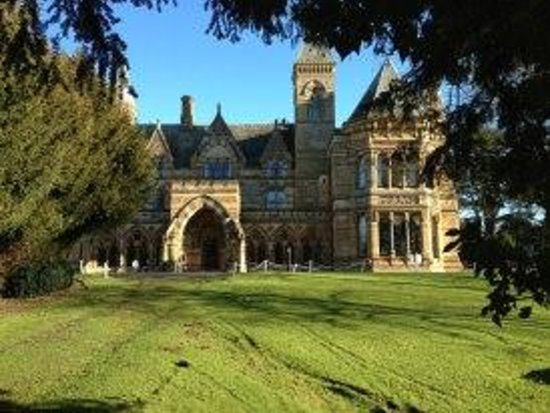 Ettington Park Hotel:                   This front on view of the hotel added to the warm and charming welcome from th