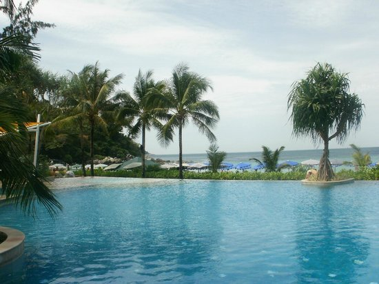 Katathani Phuket Beach Resort:                   View across pool to sea