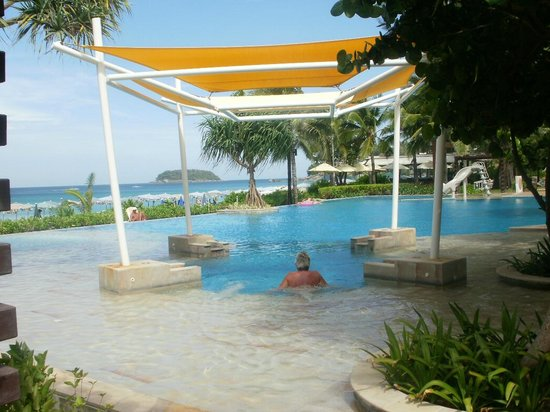 Katathani Phuket Beach Resort:                   View of pool and sea