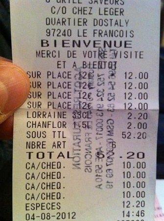 Chez Leger: pas 14 mais 12€ le menu !!!