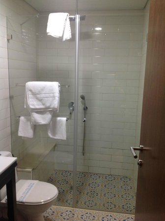 The Embassy Hotel Tel Aviv: Very nice shower!