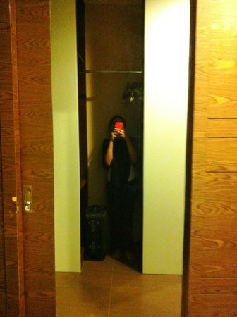 Grand Borneo Hotel:                   The full-length mirror on the cupboard door
