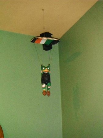 Frogstone Grill: Hanging from the ceiling-Froggie
