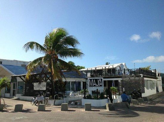 Restaurante Majia:                   vista dalla zona pedonale