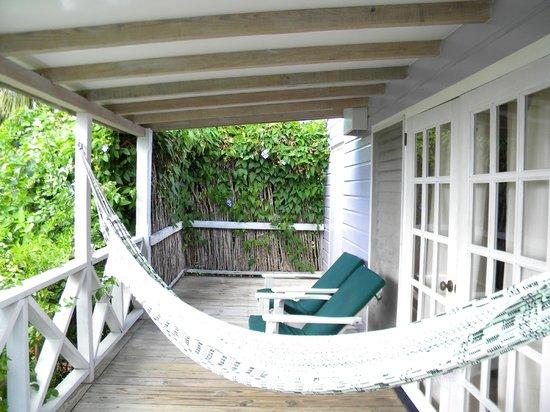 Cocobay Resort:                   cottage deck                 