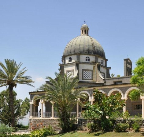 Capernaum, Izrael:                                     The church of Mount of Beatitudes Galilee