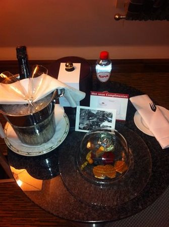 Kimpton De Witt Amsterdam:                   the birthday treats that greeted us :)