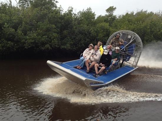 Everglades City Airboat Tours:                   great driving!!