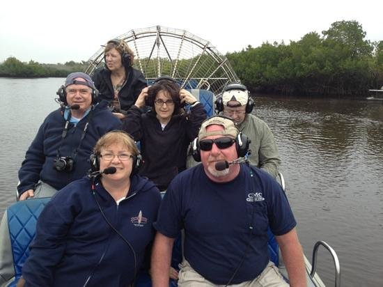 Everglades City Airboat Tours:                   enjoying our ride!