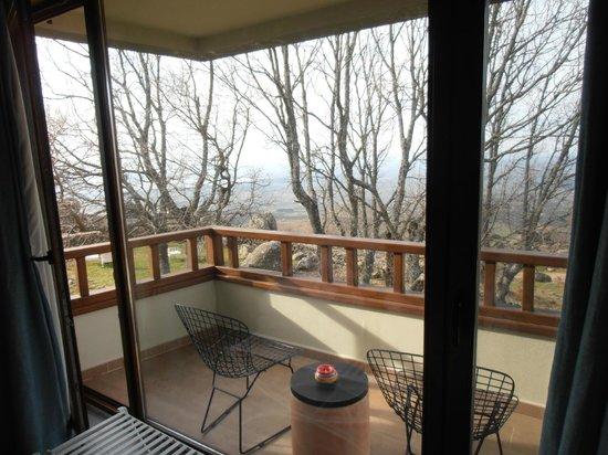 Hotel Nabia:                   Vista desde la habitación (terraza)