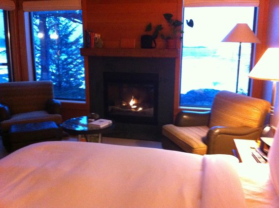 Wickaninnish Inn and The Pointe Restaurant:                   Our room with a gorgeous view of the ocean