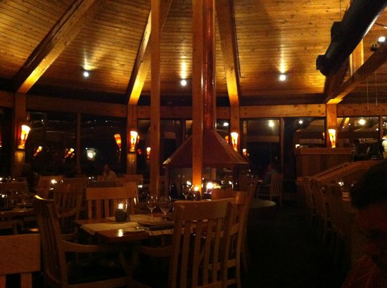 Wickaninnish Inn and The Pointe Restaurant:                   Inviting and warm dining atmosphere