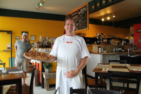 Patz Pies: Patrick serves the pie!