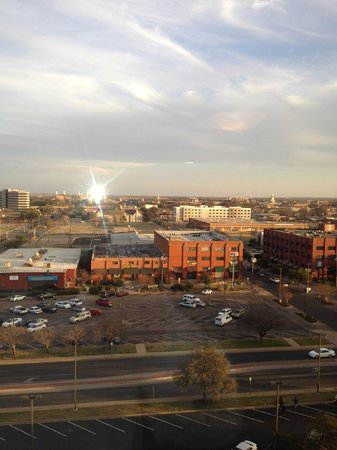 Hilton Waco:                   View for the hote room