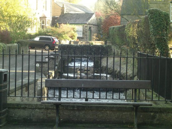 The Devonshire Arms at Beeley:                   Outside the restaurant