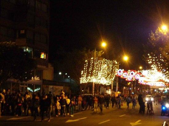 Hotel Tequendama: la strada che porta dalla candelaria a l'hotel (carr 7)