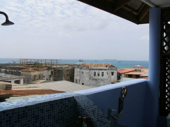 Zanzibar Palace Hotel:                                     View from the bathroom on the roof