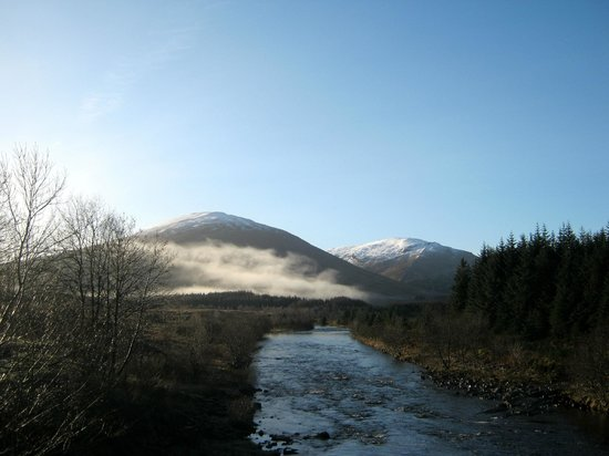 Bridge of Orchy Hotel:                   view from the back of the hotel