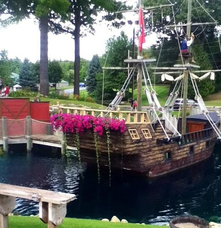 Pirates Cove Adventure Golf:                   Back of boat/ one of the greens