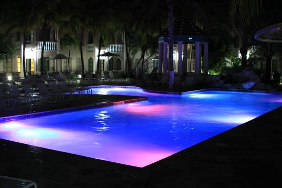 Caribbean Palm Village Resort:                   Evening by the pool