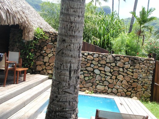 Manava Beach Resort & Spa - Moorea:                   Backyard