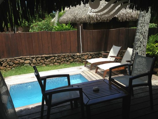 Manava Beach Resort & Spa - Moorea:                   Private pool