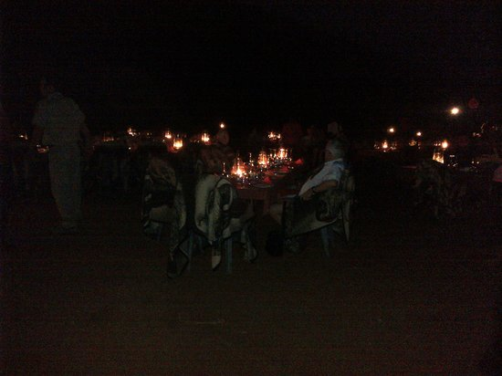 Tau Game Lodge:                   dinner