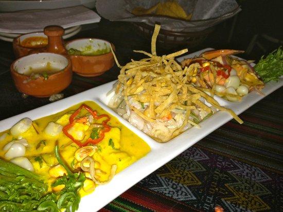 El Tule Authentic Mexican & Peruvian Restaurant:                   Ceviche Trilogy