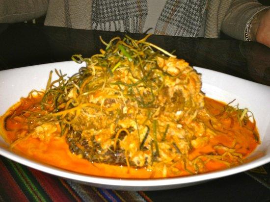 El Tule Mexican & Peruvian:                   Red Snapper and Crab Meat Tacu Tacu