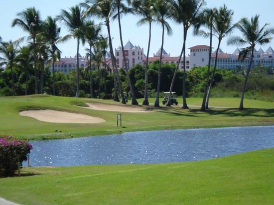 ClubHotel RIU Jalisco:                   hotel from the Flamingo golf course