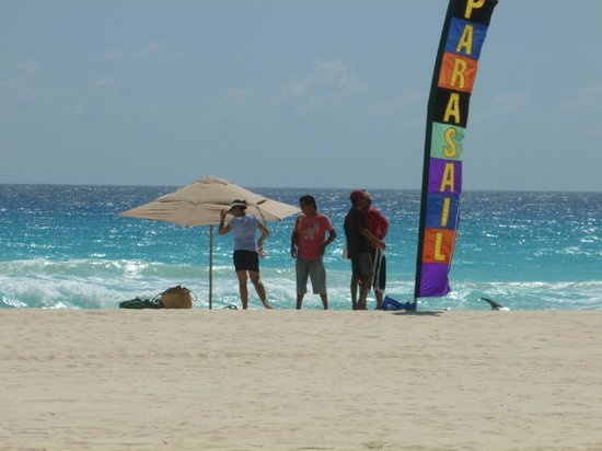 Park Royal Beach Resort Cancun:                   Parasailing available on the beach
