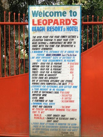 D'Leopard's Beach Resort and Hotel:                   All the fees.